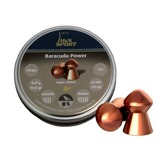 H&N ilma-ase luoti Baracuda Power 4,5mm/0,69g, 300 kpl (MEGABOX)