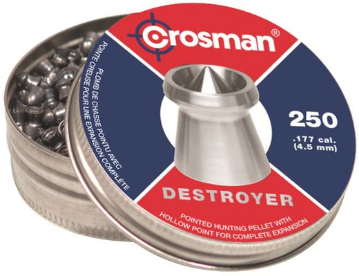 Ilma-aseluoti Crosman Destroyer 4,5 mm/0,48g 250 kpl