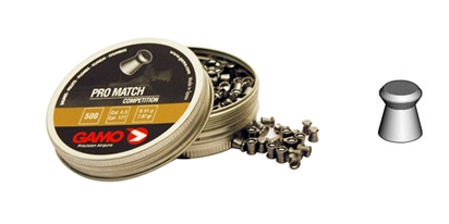 Ilma-aseluoti Gamo Pro Match Competition , 4,5mm tasakärkinen (500 pcs)